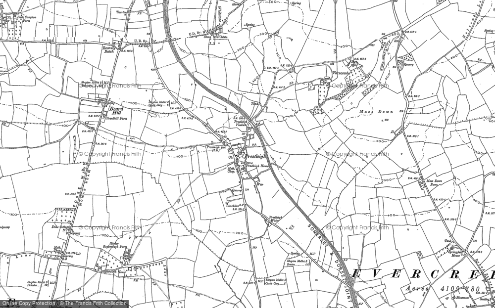 Old Map of Historic Map covering Agricultural Show Ground in 1884