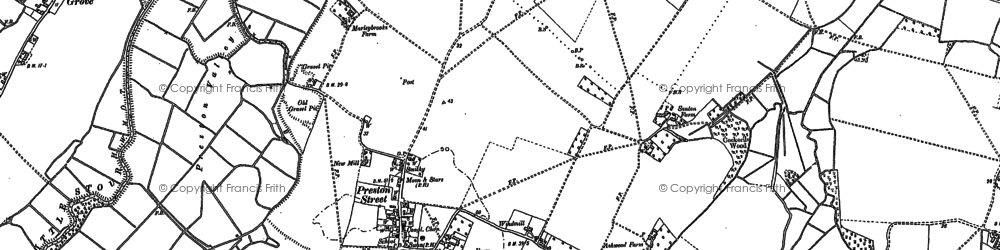 Old map of Wyborne's Charity in 1896