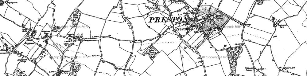 Old map of Preston in 1897