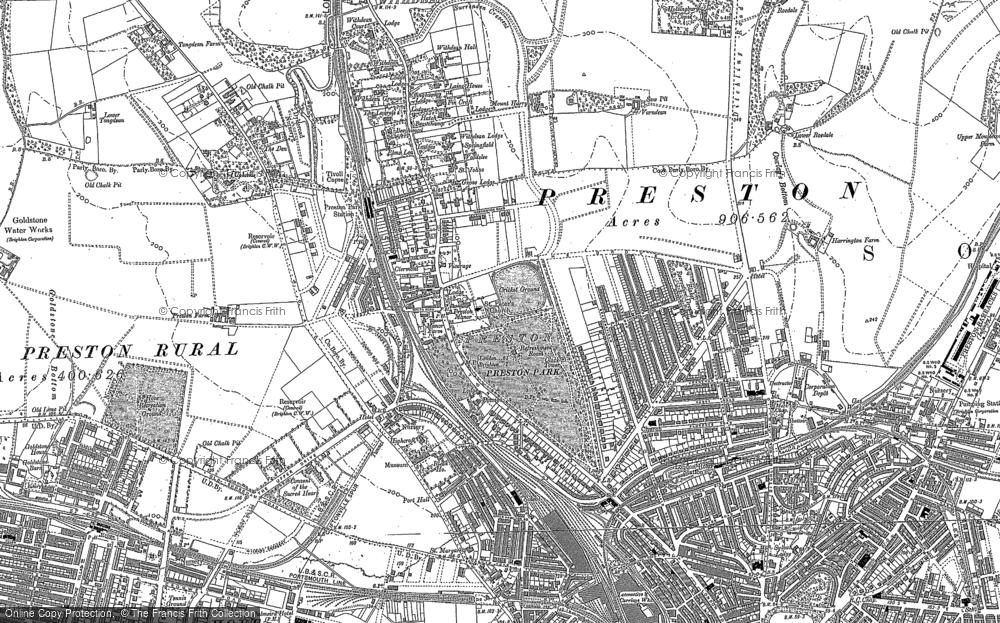 Old Map of Preston, 1909 in 1909