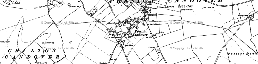 Old map of Preston Candover in 1894
