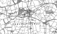 Old Map of Preston Capes, 1883