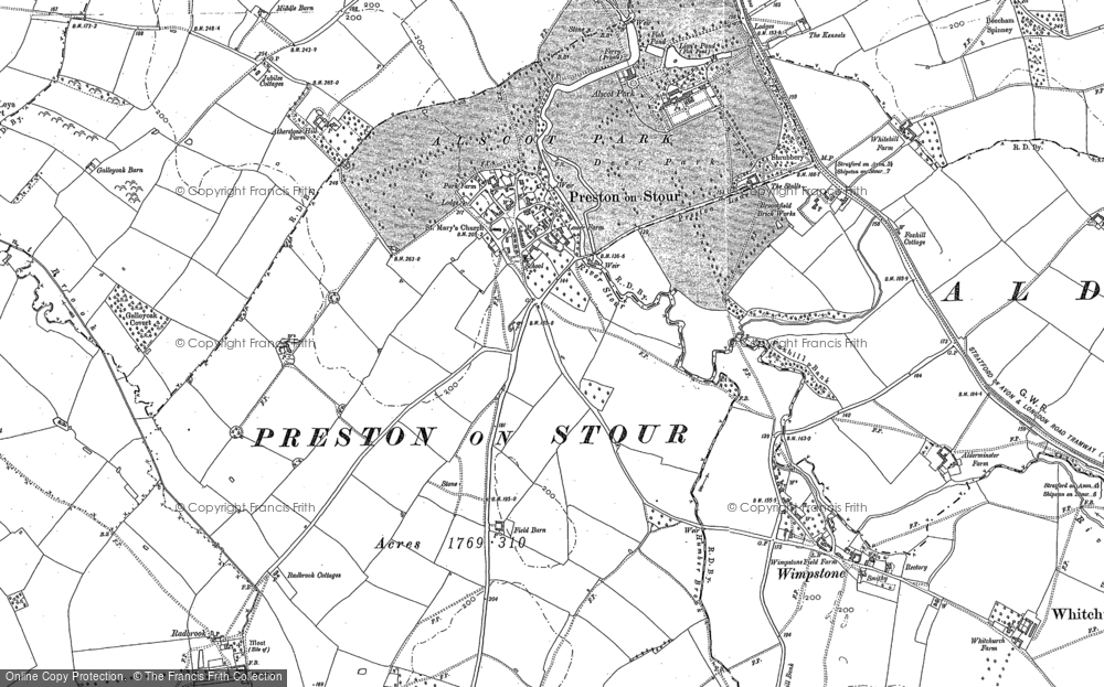 Old Map of Preston on Stour, 1900 in 1900