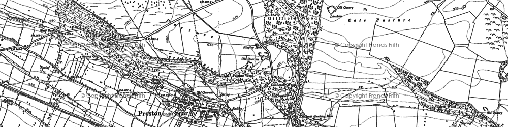 Old map of Preston-under-Scar in 1891
