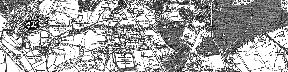 Old map of Prestwich in 1891