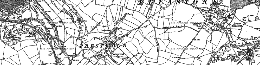 Old map of Wootton Lodge in 1898