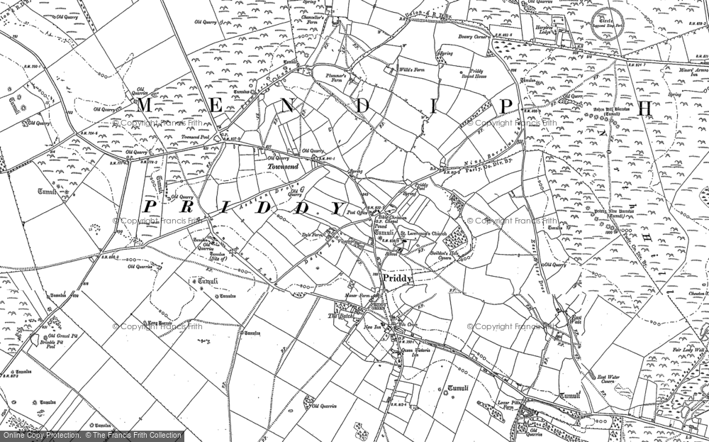 Map of Priddy, 1884
