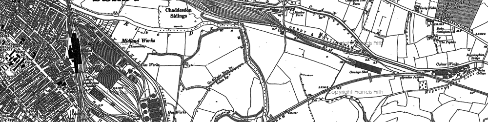 Old map of Litchurch in 1882