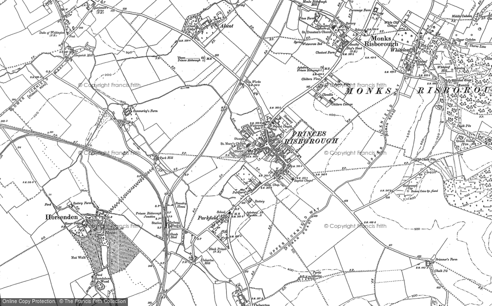 Map of Princes Risborough, 1897