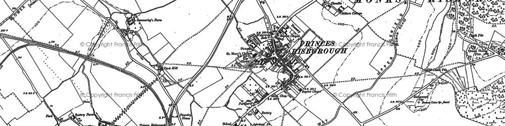 Old map of Princes Risborough in 1897