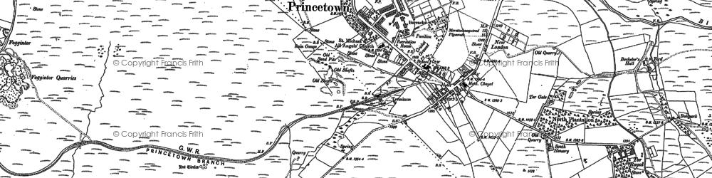Old map of Leeden Tor in 1883