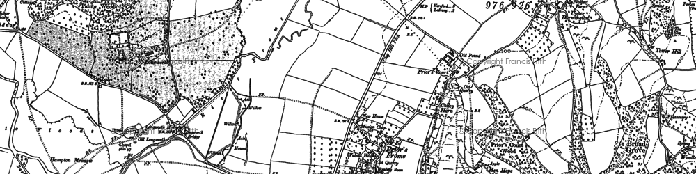 Old map of Backbury Hill in 1886