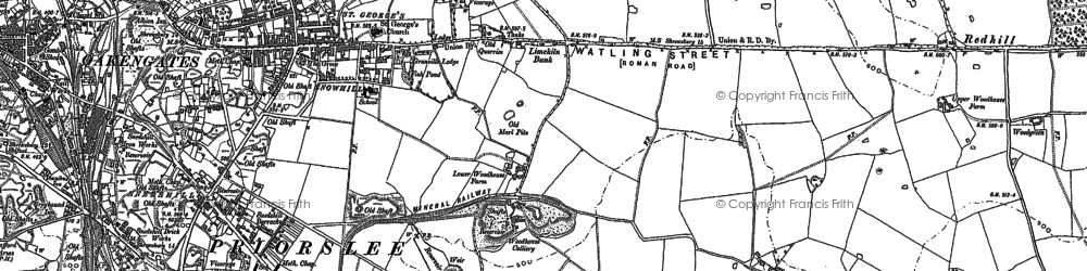 Old map of Woodhouse, The in 1882