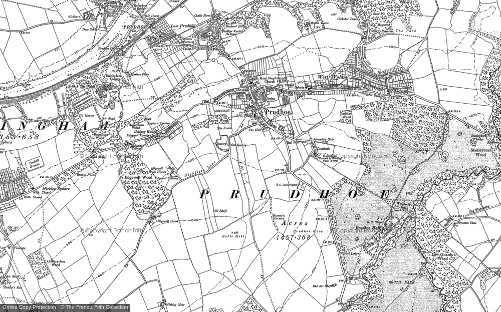 Old Map of Prudhoe, 1914 in 1914