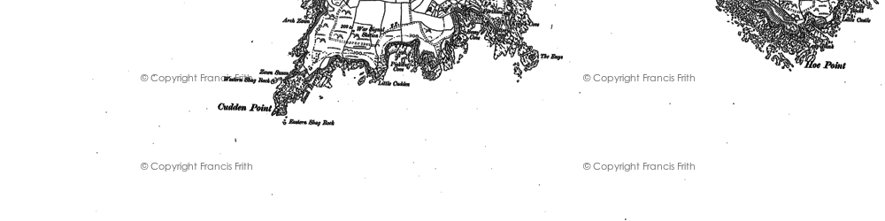 Old map of Prussia Cove in 1906