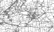 Old Map of Pucklechurch, 1881