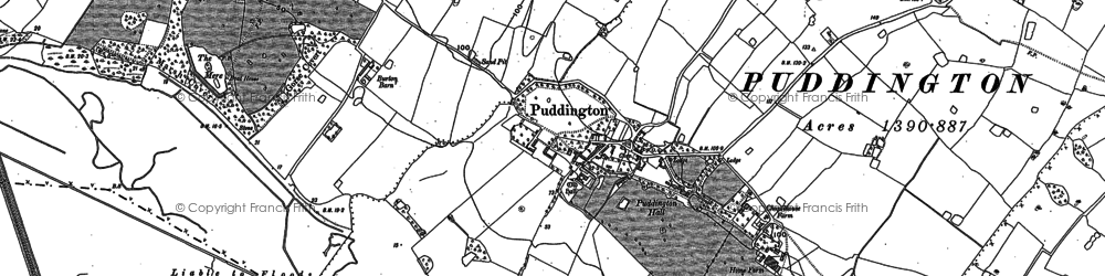 Old map of Puddington in 1897