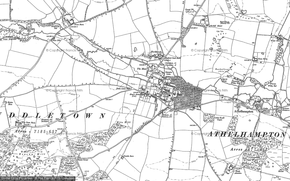 Old Map of Historic Map covering Bardolf Manor in 1887