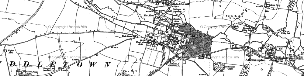 Old map of Bardolfeston Village in 1887