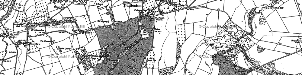 Old map of Whyle in 1885