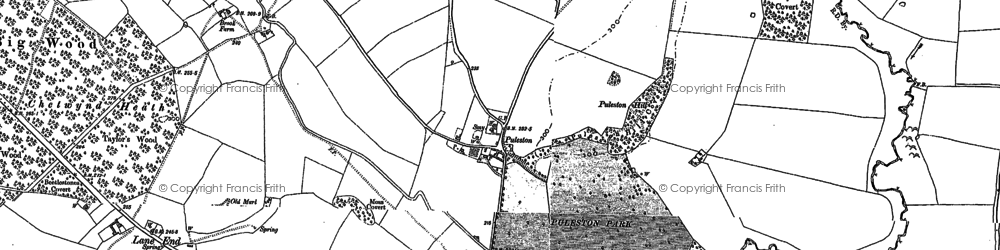 Old map of Whitleyford Br in 1880