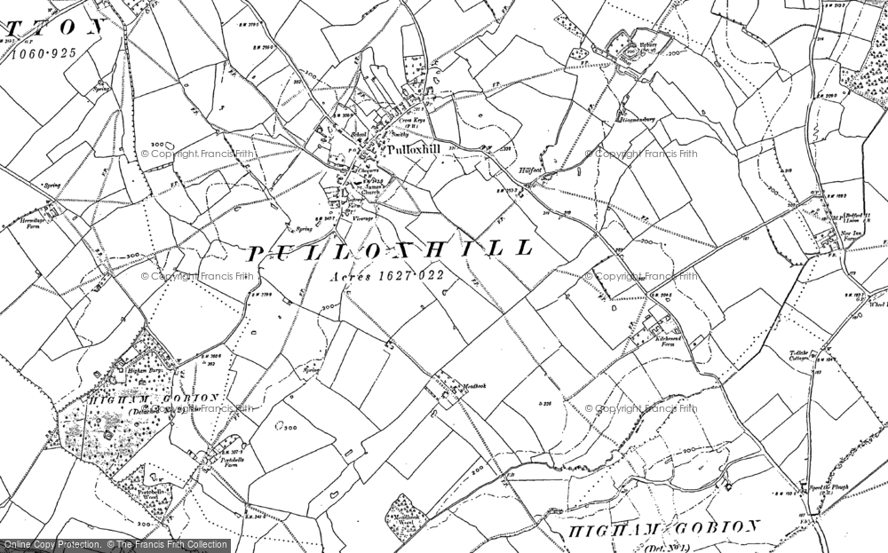 Old Map of Pulloxhill, 1881 - 1899 in 1881