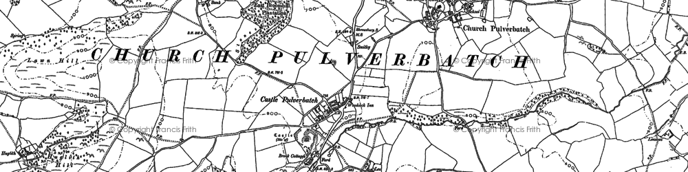 Old map of Lawn Hill in 1881