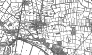 Old Map of Puriton, 1886