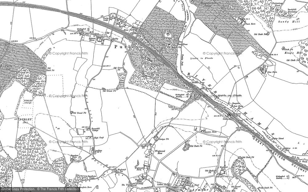 Old Map of Historic Map covering Tilehurst Sta in 1910