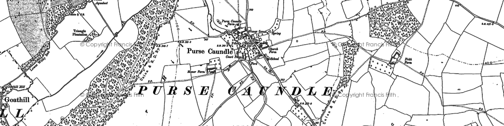 Old map of Toomer Hill in 1901