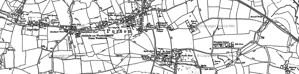 Old map of Purton in 1898