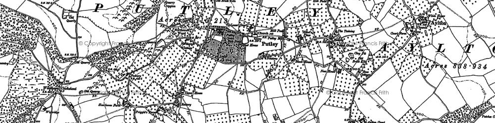Old map of Woolhope Cockshoot in 1886