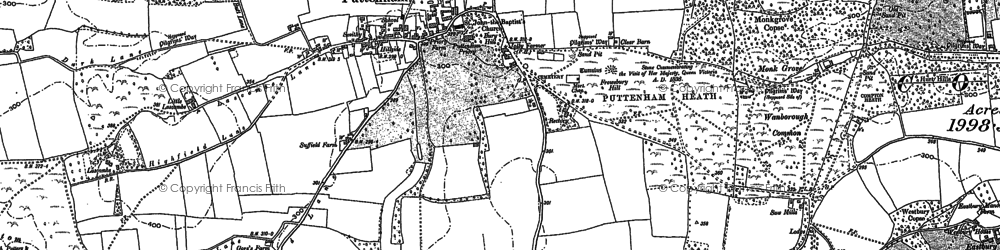 Old map of Lascombe in 1895