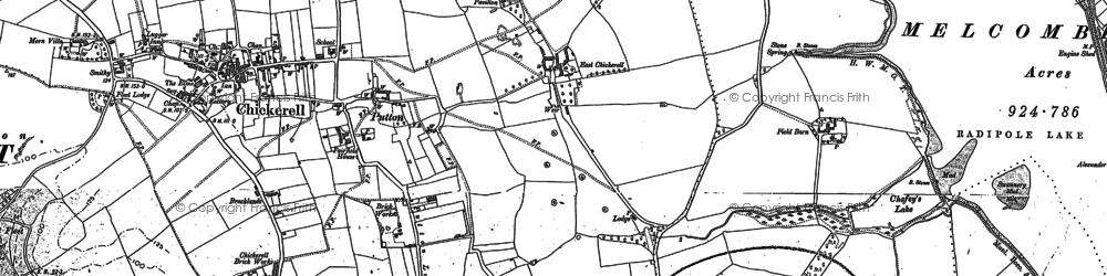 Old map of Westham in 1902