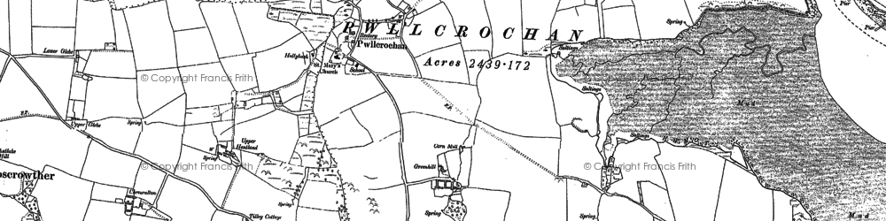 Old map of Wogaston in 1937