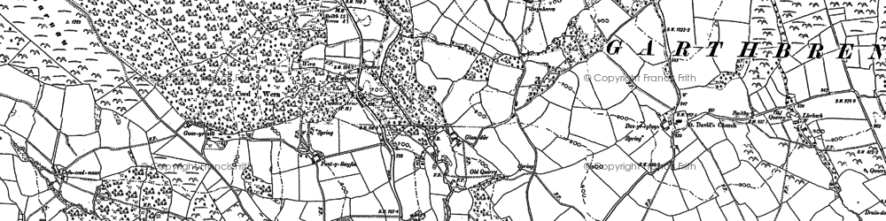 Old map of Alltybrain in 1886