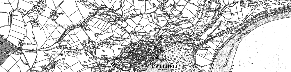 Old map of Allt Fawr in 1899