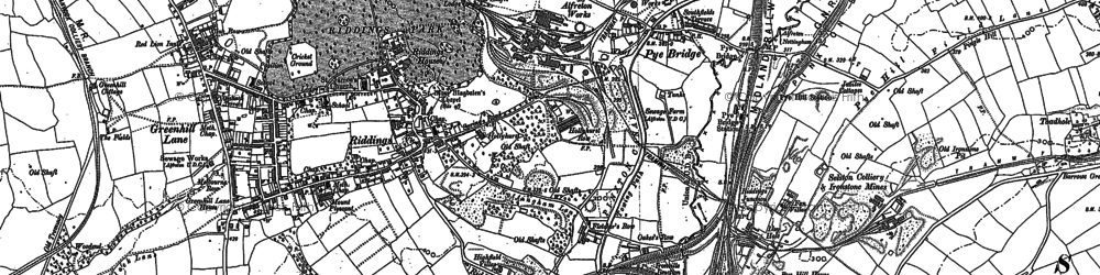 Old map of Pye Bridge in 1879