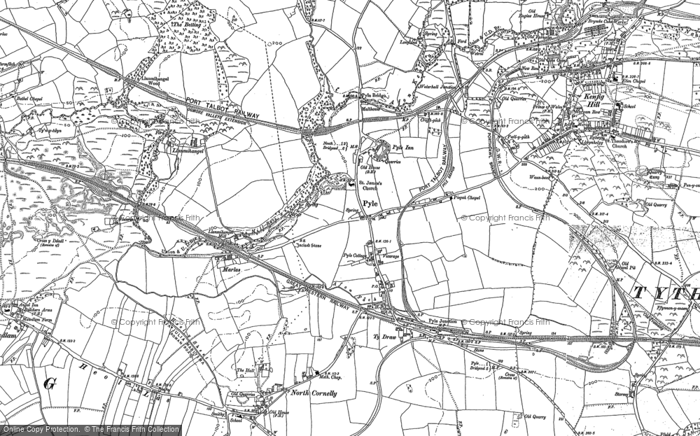 Old Map of Pyle, 1897 - 1914 in 1897