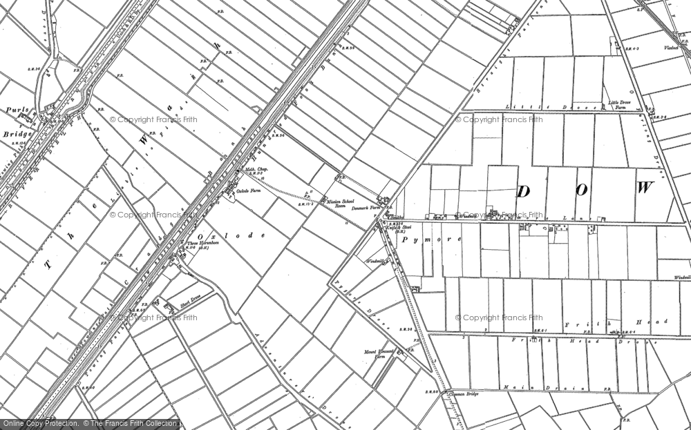 Old Map of Historic Map covering Dunkirk in 1886