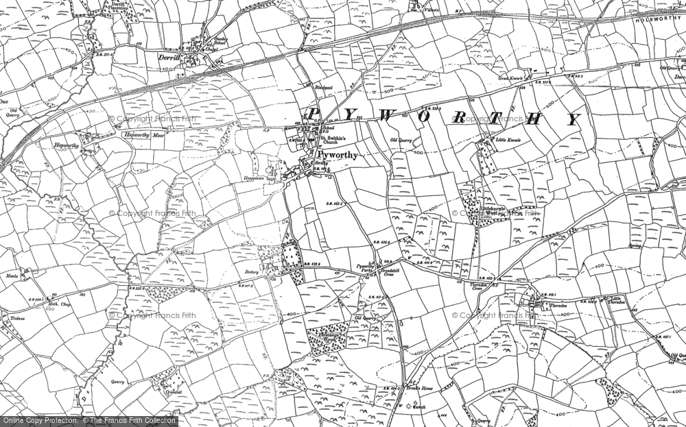 Old Map of Historic Map covering Affaland Moor in 1899