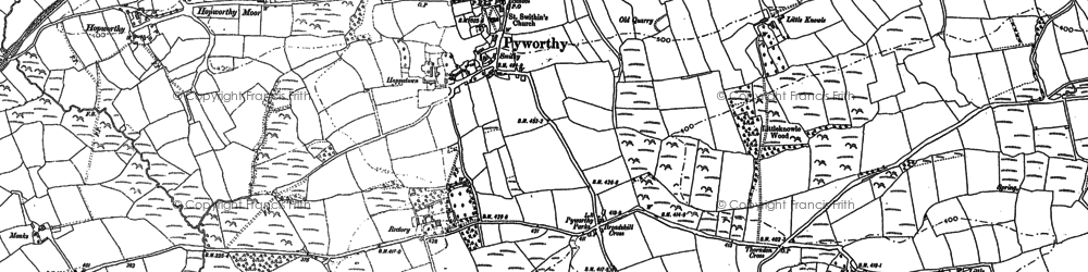 Old map of Affaland Moor in 1899