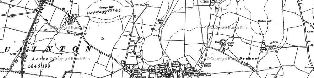 Old map of Denham in 1898