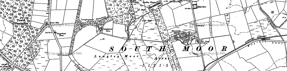 Old map of Wheatley Hill in 1895