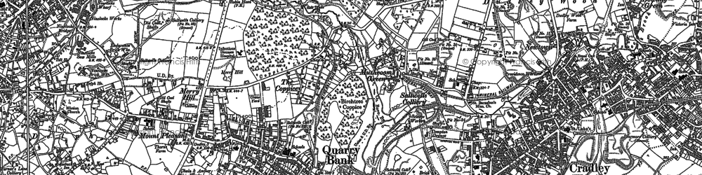 Old map of Quarry Bank in 1901