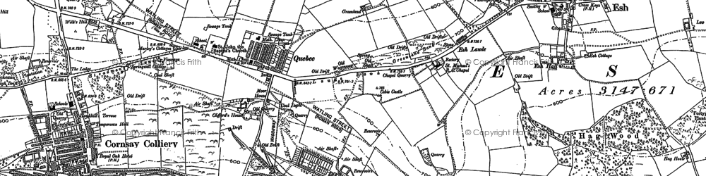 Old map of Wilk's Hill in 1895