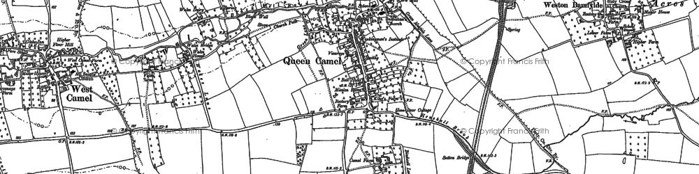 Old map of Queen Camel in 1885