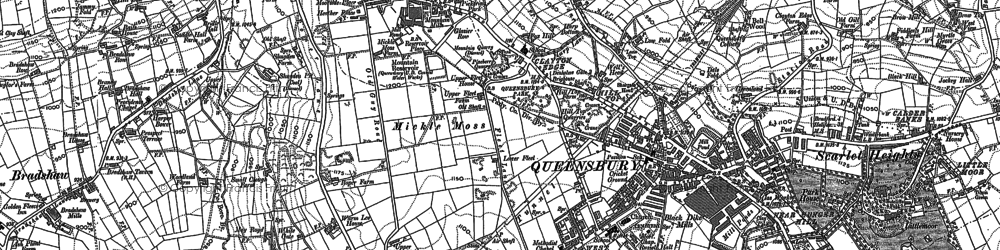 Old map of Ambler Thorn in 1891