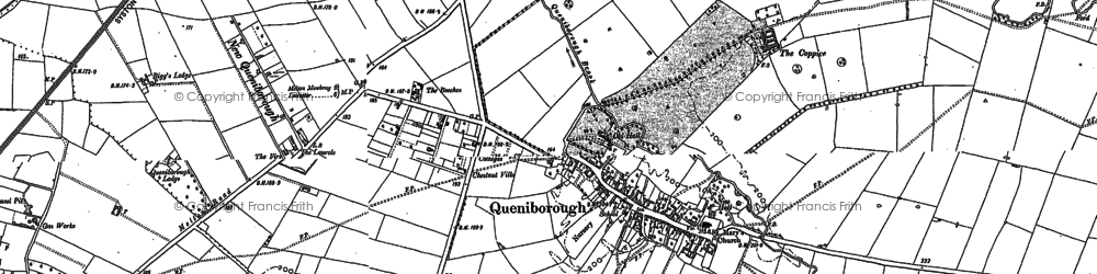 Old map of Queniborough in 1883