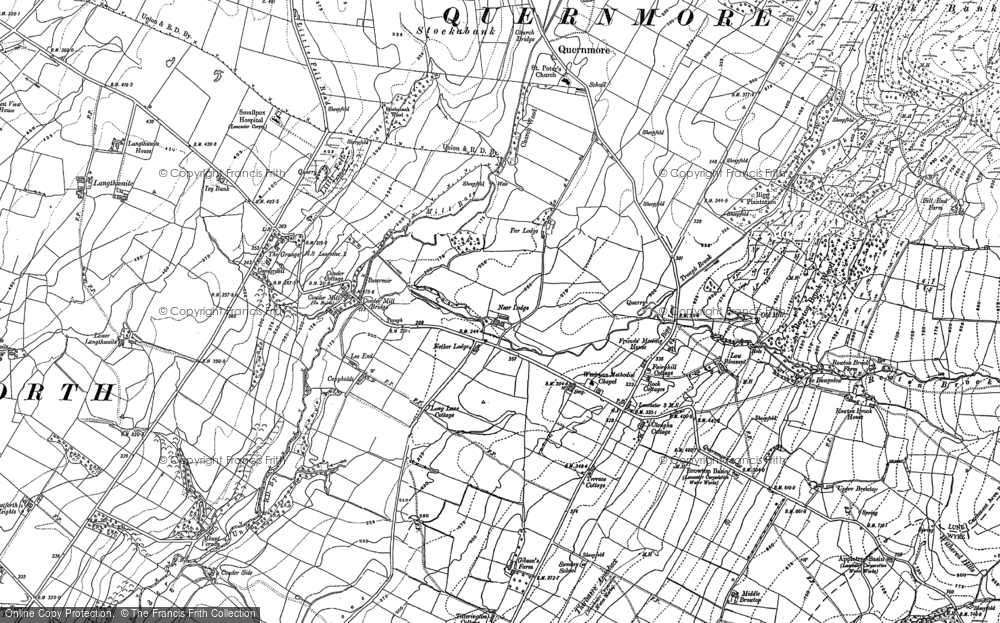 Old Map of Historic Map covering Askew Hill in 1910